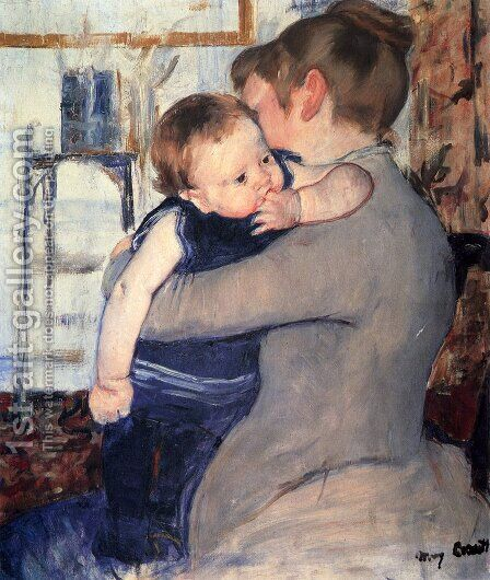 Mother And Child by Mary Cassatt - Reproduction Oil Painting