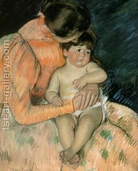 Mother And Child3 by Mary Cassatt - Reproduction Oil Painting