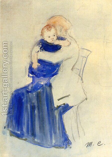 Mother And Child5 by Mary Cassatt - Reproduction Oil Painting