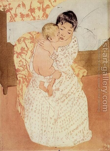 Nude Child by Mary Cassatt - Reproduction Oil Painting