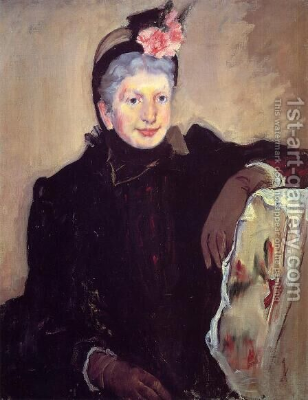Portrait Of An Elderly Lady by Mary Cassatt - Reproduction Oil Painting