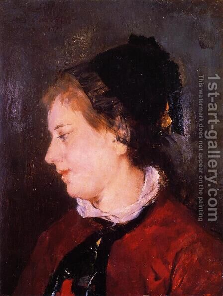 Portrait Of Madame Sisley by Mary Cassatt - Reproduction Oil Painting