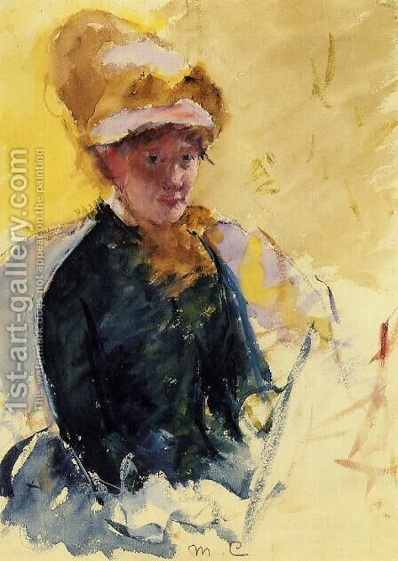 Self Portrait by Mary Cassatt - Reproduction Oil Painting