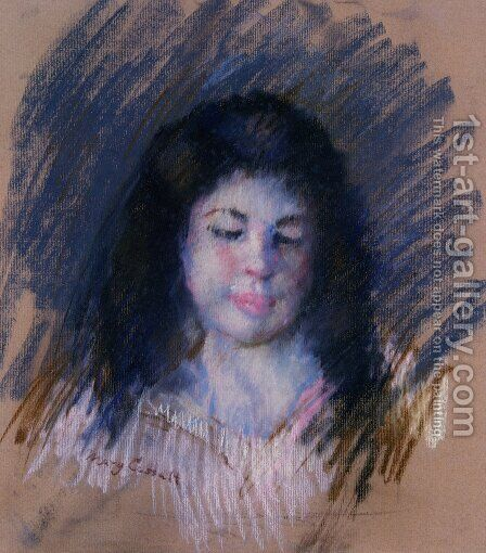 Sketch Of Francoise by Mary Cassatt - Reproduction Oil Painting