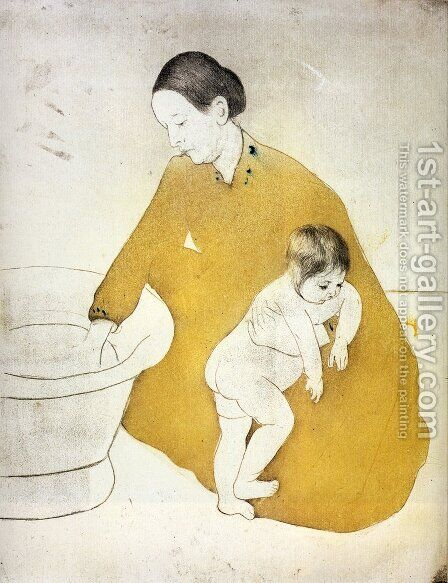 The Bath by Mary Cassatt - Reproduction Oil Painting
