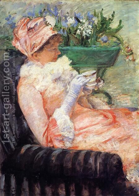 The Cup Of Tea2 by Mary Cassatt - Reproduction Oil Painting