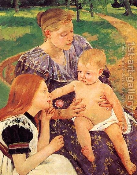 The Family by Mary Cassatt - Reproduction Oil Painting