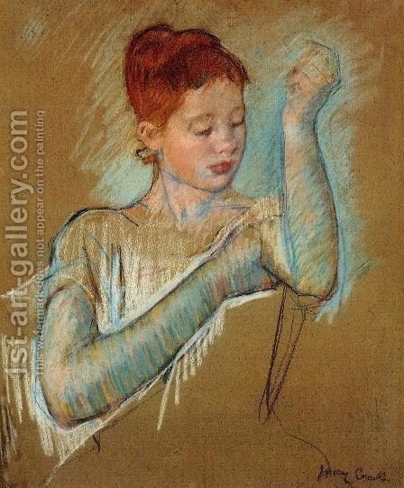 The Long Gloves by Mary Cassatt - Reproduction Oil Painting