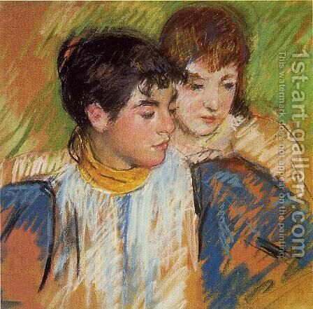The Two Sisters by Mary Cassatt - Reproduction Oil Painting
