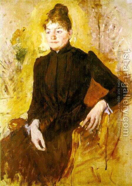 Woman In Black by Mary Cassatt - Reproduction Oil Painting