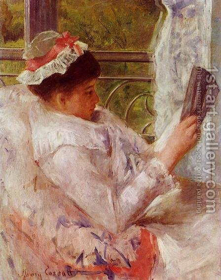 Woman Reading Aka Lydia Cassatt by Mary Cassatt - Reproduction Oil Painting