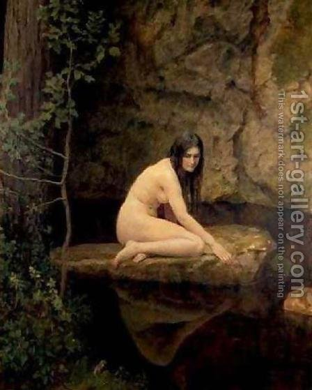 The Water Nymph by John Maler Collier - Reproduction Oil Painting