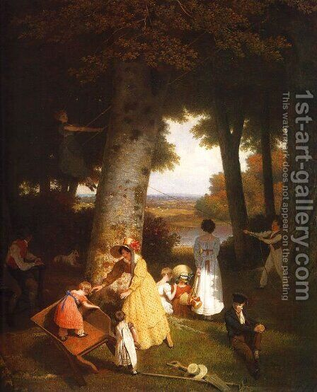 The Playground by Jacques Laurent Agasse - Reproduction Oil Painting