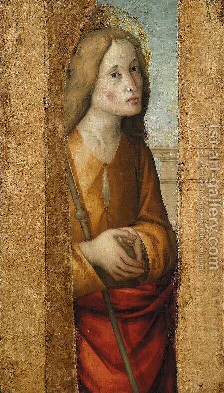 Figure of a Saint by ALBA, Macrino d' Alba - Reproduction Oil Painting