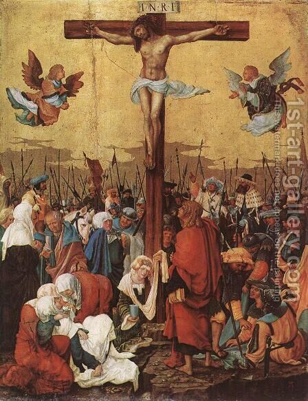 Christ on the Cross 1520 by Albrecht Altdorfer - Reproduction Oil Painting