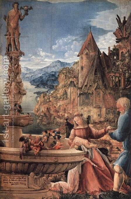 Rest on the Flight into Egypt 1510 by Albrecht Altdorfer - Reproduction Oil Painting