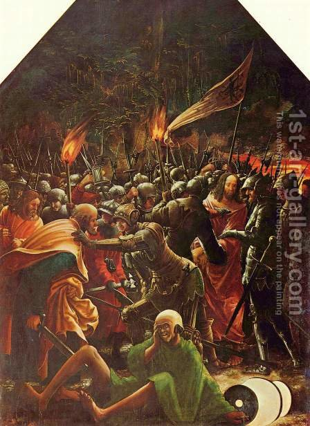 The Arrest of Christ 1509 by Albrecht Altdorfer - Reproduction Oil Painting