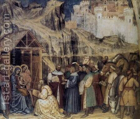 Adoration of the Magi 1380 by Altichiero da Zevio - Reproduction Oil Painting