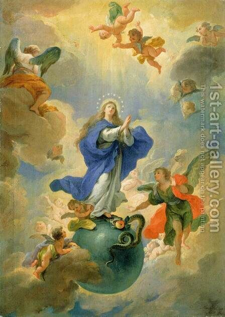 The Immaculate Conception 1719 by Martino Altomonte - Reproduction Oil Painting