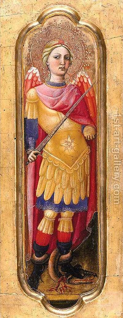 Archangel Michael by Alvaro Di Pietro (Pirez D'Évora) - Reproduction Oil Painting