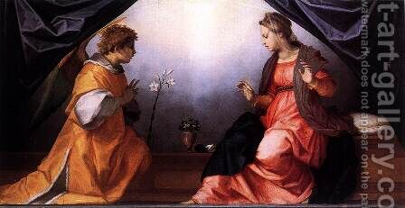 Annunciation 1528 by Andrea Del Sarto - Reproduction Oil Painting
