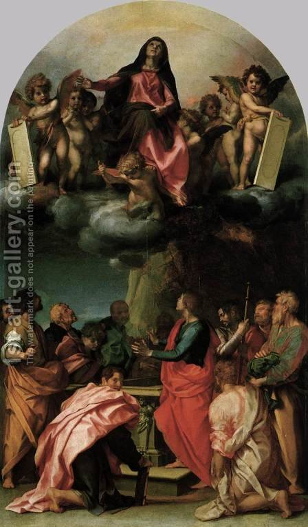 Assumption of the Virgin 1529 by Andrea Del Sarto - Reproduction Oil Painting