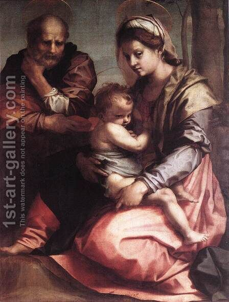 Holy Family (Barberini) 1528 by Andrea Del Sarto - Reproduction Oil Painting