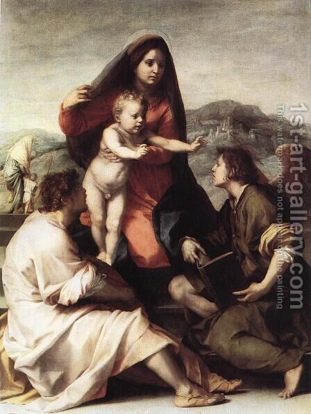 Madonna della Scala 1522 by Andrea Del Sarto - Reproduction Oil Painting
