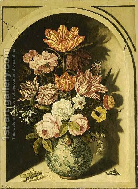 Still-Life 1635 by Bartholomeus Assteyn - Reproduction Oil Painting