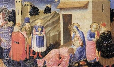 Adoration of the Magi 1433-34 by Angelico Fra - Reproduction Oil Painting