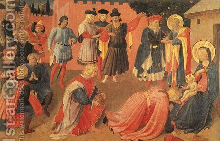 Adoration of the Magi 1433 by Angelico Fra - Reproduction Oil Painting