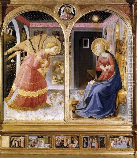 Annunciation 1430 by Angelico Fra - Reproduction Oil Painting