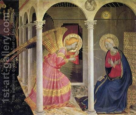 Annunciation 1433 by Angelico Fra - Reproduction Oil Painting