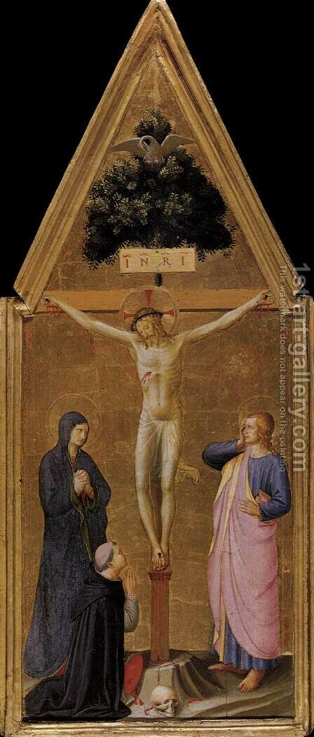 Crucifixion 1450 by Angelico Fra - Reproduction Oil Painting