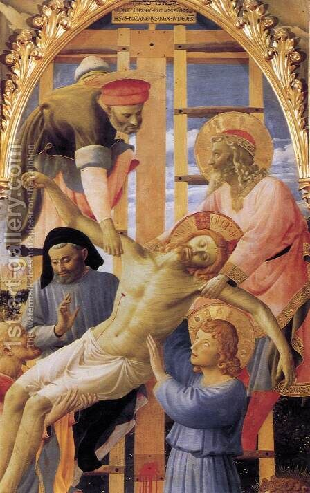 Deposition from the Cross (detail 2) 1437 by Angelico Fra - Reproduction Oil Painting