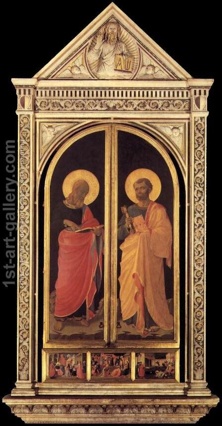 Linaioli Tabernacle (shutters closed) 1433 by Angelico Fra - Reproduction Oil Painting