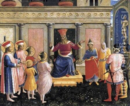 Saint Cosmas and Saint Damian before Lisius 1438 by Angelico Fra - Reproduction Oil Painting