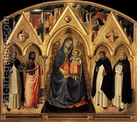 St Peter Martyr Altarpiece 1427 by Angelico Fra - Reproduction Oil Painting