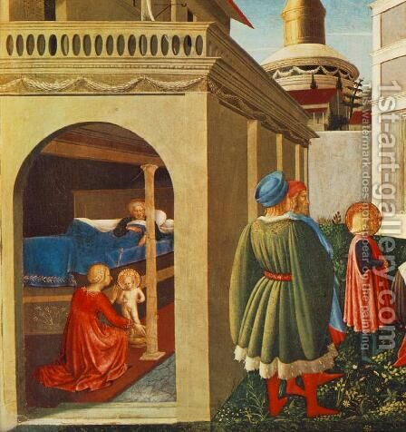Story of St Nicholas, Birth of St Nicholas (detail) 1437 by Angelico Fra - Reproduction Oil Painting