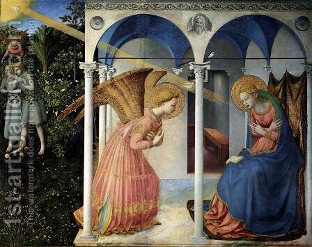 The Annunciation 1430 by Angelico Fra - Reproduction Oil Painting