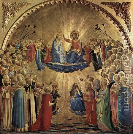 The Coronation of the Virgin 1434 by Angelico Fra - Reproduction Oil Painting