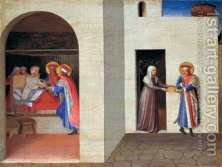 The Healing of Palladia by Saint Cosmas and Saint Damian 1438 by Angelico Fra - Reproduction Oil Painting