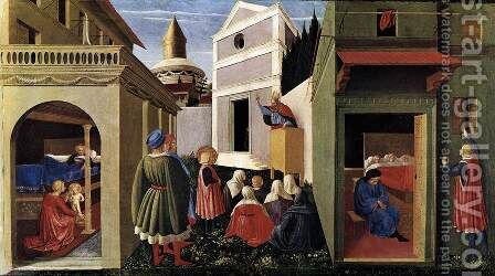 The Story of St Nicholas 1437 by Angelico Fra - Reproduction Oil Painting
