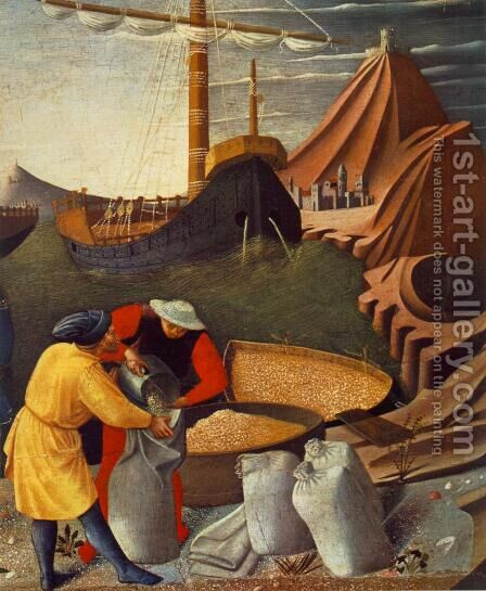 The Story of St Nicholas, St Nicholas saves the ship (detail) 1437 by Angelico Fra - Reproduction Oil Painting