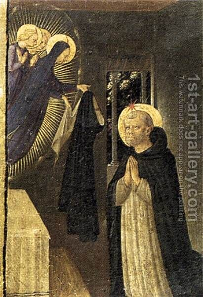 The Virgin Consigns the Habit to St Dominic 1433 by Angelico Fra - Reproduction Oil Painting