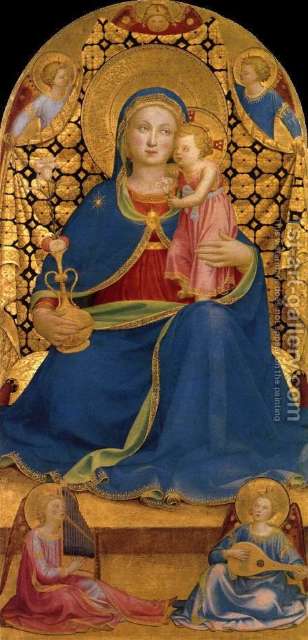 The Virgin of Humility 1435 by Angelico Fra - Reproduction Oil Painting