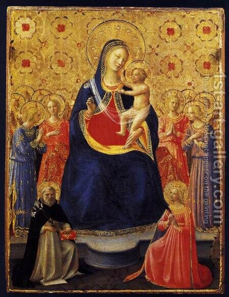 Virgin and Child with Sts Dominic and Catherine of Alexandria 1435 by Angelico Fra - Reproduction Oil Painting