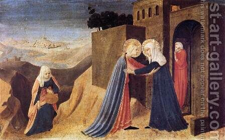 Visitation 1433 by Angelico Fra - Reproduction Oil Painting