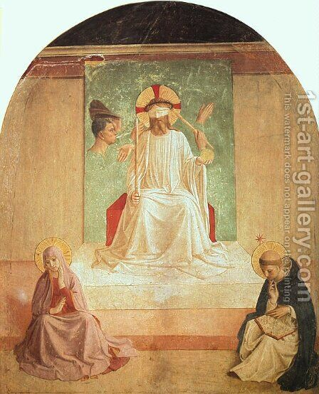 The Mocking of Christ (with Benozzo Gozzoli), 1440-41 by Angelico Fra - Reproduction Oil Painting