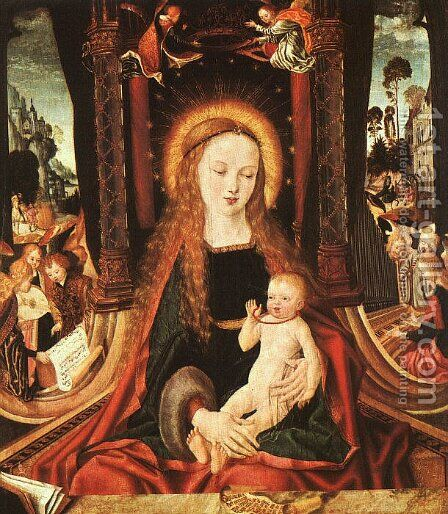 Madonna and Child, 1490-1500 by Master of the Aix-en-Chapel Altarpiece - Reproduction Oil Painting
